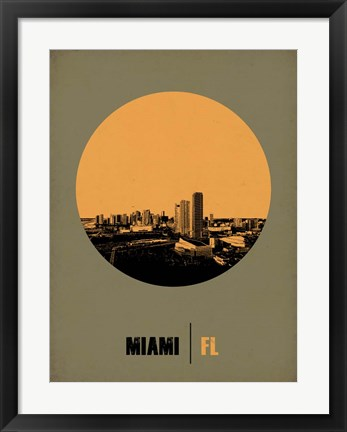 Framed Miami Circle 1 Print