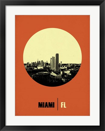 Framed Miami Circle 2 Print
