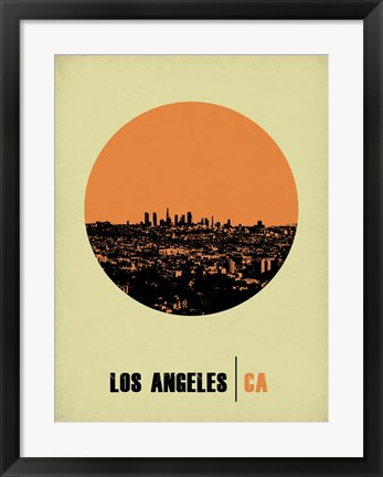 Framed Los Angeles Circle 2 Print
