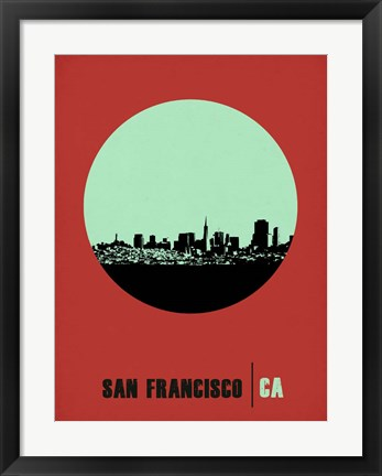 Framed San Francisco Circle 1 Print