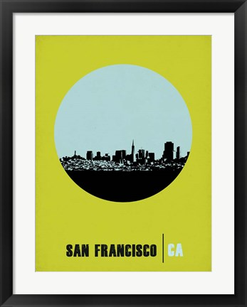 Framed San Francisco Circle 2 Print