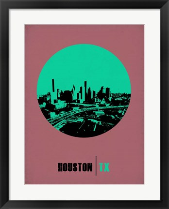 Framed Houston Circle 1 Print
