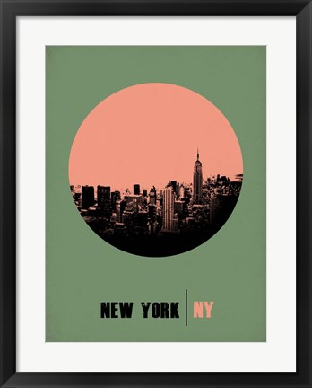 Framed New York Circle 1 Print