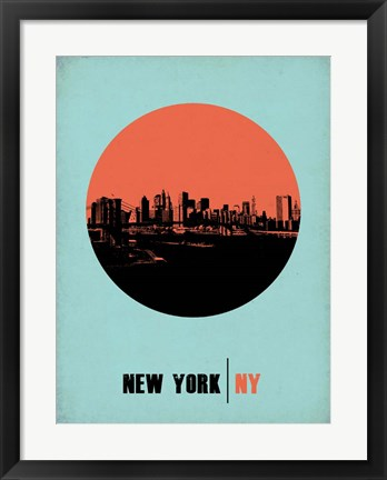 Framed New York Circle 2 Print