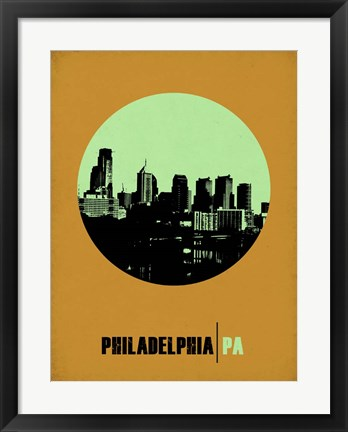 Framed Philadelphia Circle 1 Print