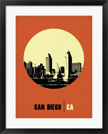 Framed San Diego Circle 2 Print
