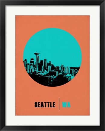 Framed Seattle Circle 1 Print