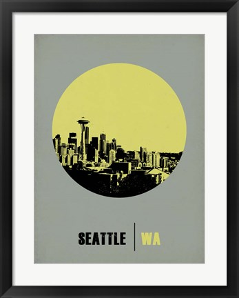 Framed Seattle Circle 2 Print