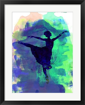 Framed Ballerina's Dance Watercolor 2 Print