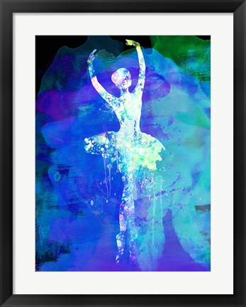Framed Ballerina's Dance Watercolor 4 Print
