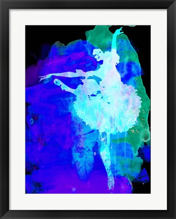 Framed Purple Ballerina Watercolor Print