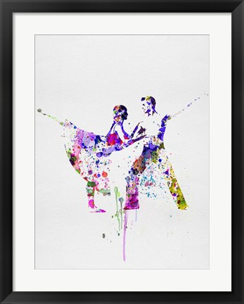 Framed Romantic Ballet Watercolor 2 Print