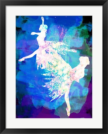 Framed Ballet Watercolor 2B Print