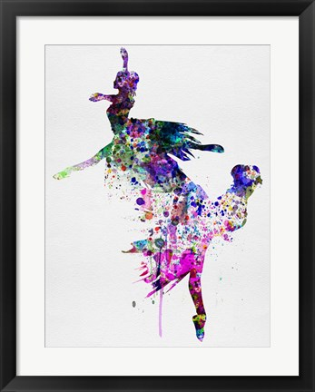 Framed Ballet Watercolor 3B Print
