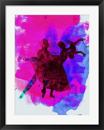Framed Ballet Dancers Watercolor 3 Print