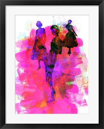 Framed Fashion Models 1 Print