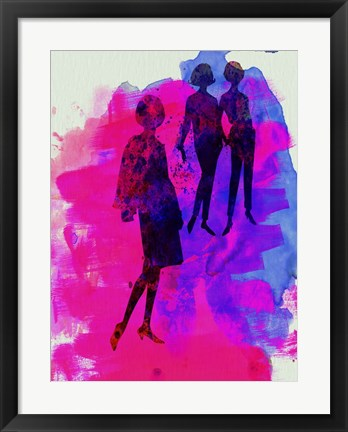 Framed Fashion Models 4 Print