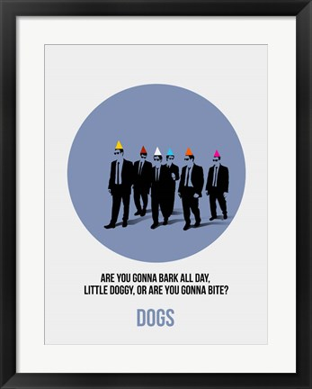 Framed Dogs 1 Print