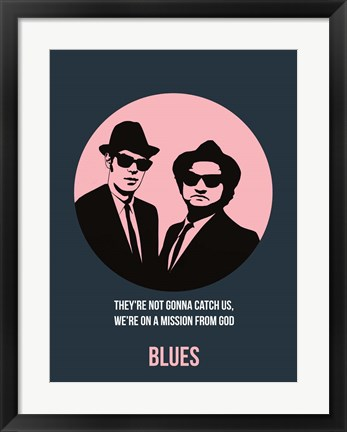Framed Blues 1 Print