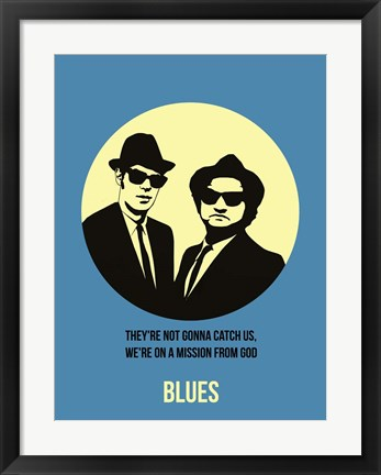 Framed Blues 2 Print