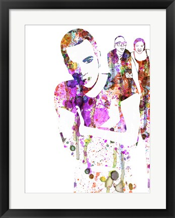 Framed Trainspotting Watercolor 1 Print