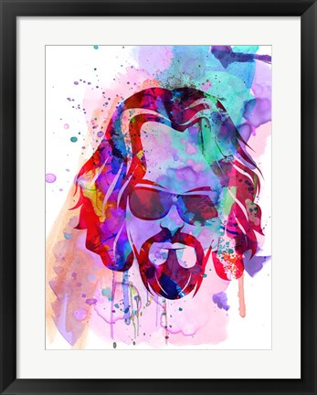 Framed Dude Watercolor Print