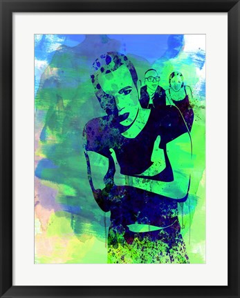 Framed Trainspotting Watercolor 2 Print
