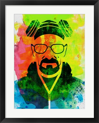 Framed Walter White Watercolor 1 Print
