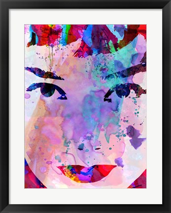 Framed Audrey Watercolor Print