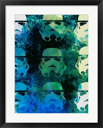 Framed Star Warriors Watercolor 1 Print