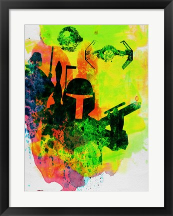 Framed Star Warriors Watercolor 3 Print