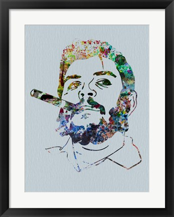 Framed Che Watercolor Print