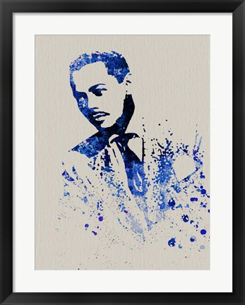 Framed Billy Eckstine Watercolor Print