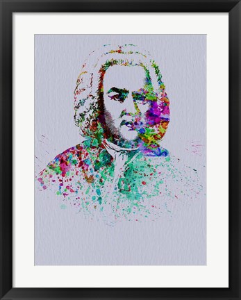 Framed Bach Watercolor Print