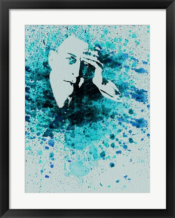 Framed Sergey Rachmaninov Watercolor Print
