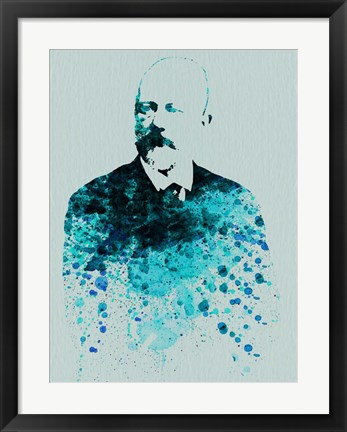 Framed Tchaikovsky Watercolor Print