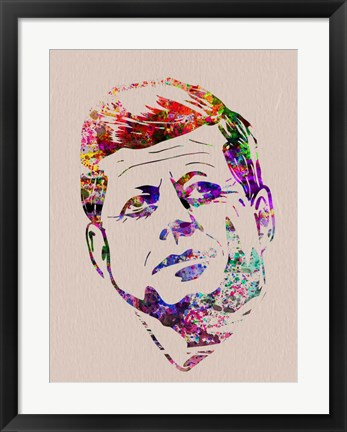 Framed Kennedy Watercolor Print
