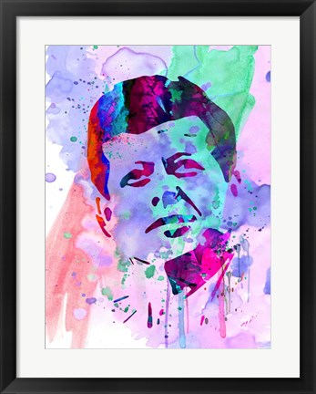 Framed Kennedy Watercolor 2 Print