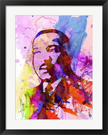 Framed Martin Luther King Watercolor Print