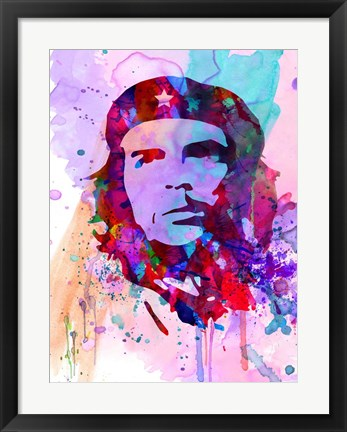 Framed Che Guevara Watercolor 2 Print