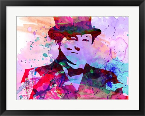 Framed Churchill Watercolor Print