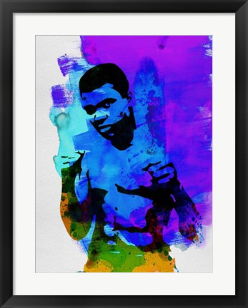 Framed Ali Watercolor Print