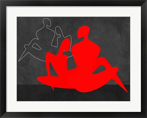 Framed Red Couple 3 Print