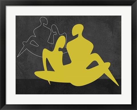 Framed Yellow Couple Print