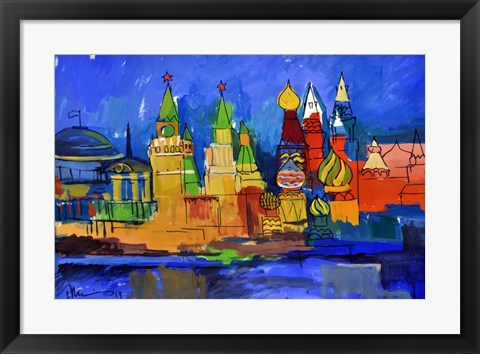 Framed Moscow Print