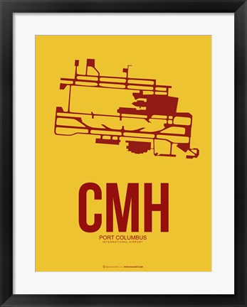 Framed CMH Port Columbus 3 Print