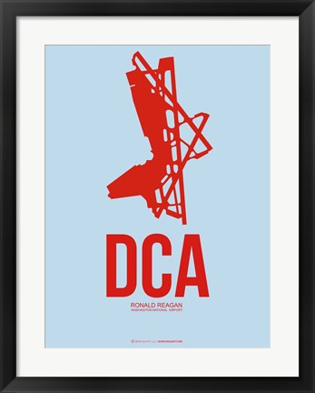 Framed DCA Washington 2 Print