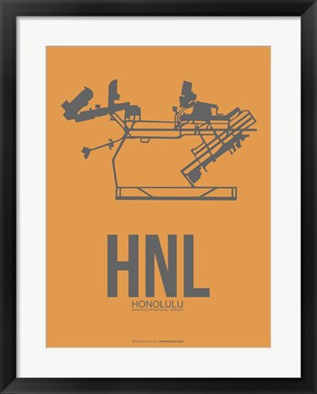 Framed HNL Honolulu Airport 2 Print