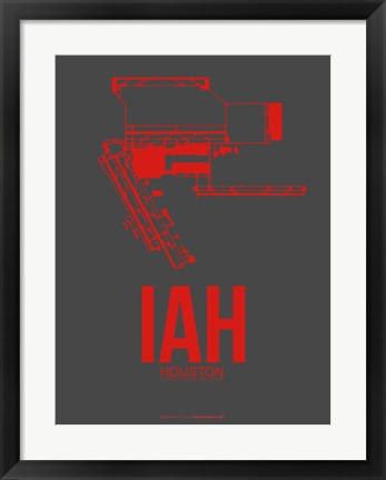 Framed IAH Houston Airport 1 Print