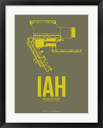Framed IAH Houston Airport 2 Print